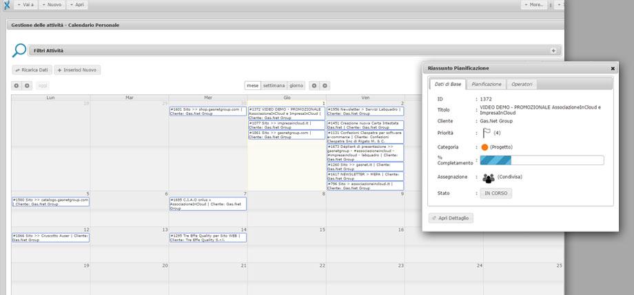 Software gestionale per l'Organizzazione delle Attività | ImpresaInCloud